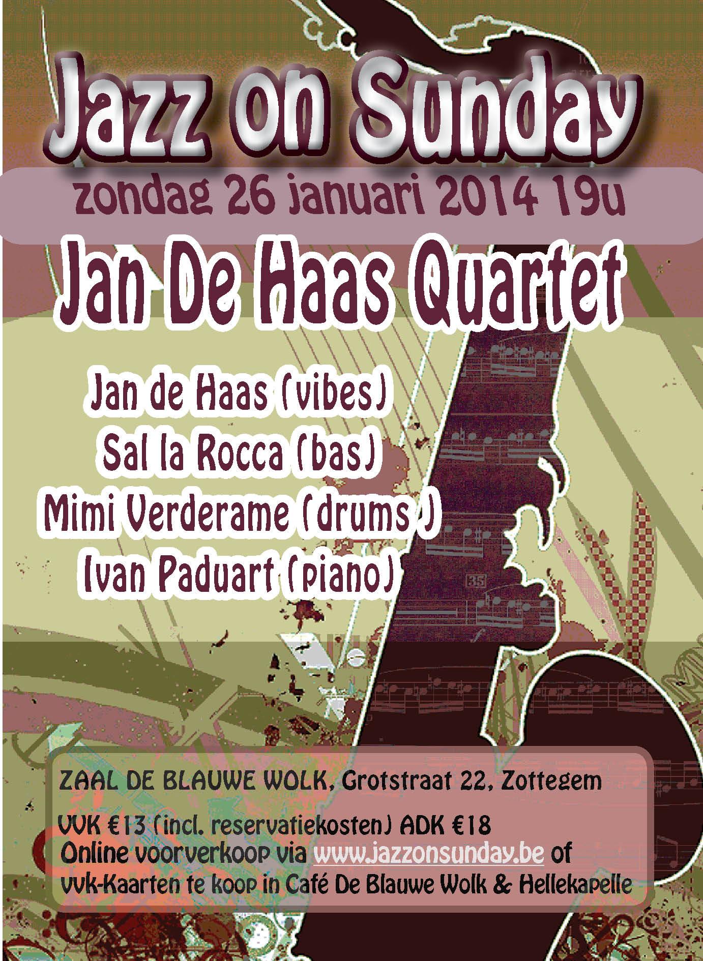 affiche jos 26 januari 2014 Jan De Haas web